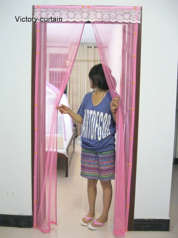 2011 New combination magnetic door mesh(pink)