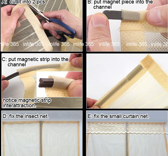 combination curtain door arrange steps