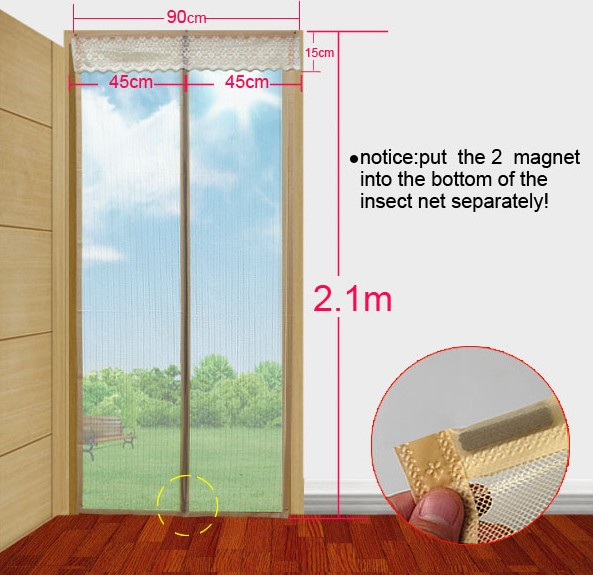 standard size for the magnetic curtain door