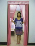 2011 New combination magnetic mesh curtain(pink)